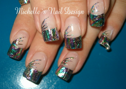 Nail art foils example using h26 holographic prinsesfo Images