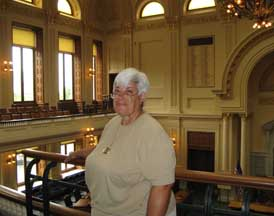 State House Tour Guide, Mary Ann Ferrara, a former NAP, NJSAP member, who was mentored by the late Dorothea Kinney