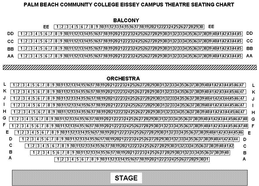 Eissey theatre seating chart - Palm beach state college gardens campus ...