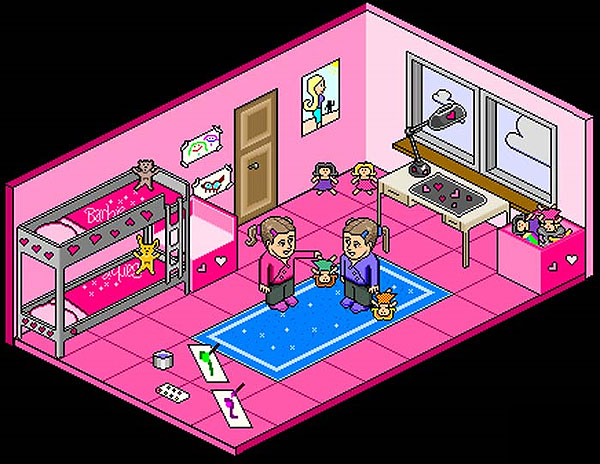 Salas De Estar No Habbo ~ La sala de las Habbo Barbies