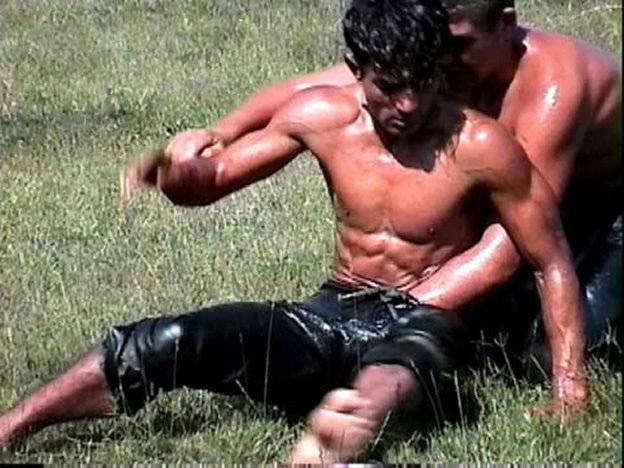 naked oil wrestling Gay