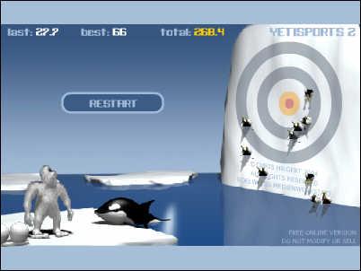 Penguin Game Yeti