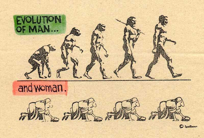 Die evolusie van mans en vrouens