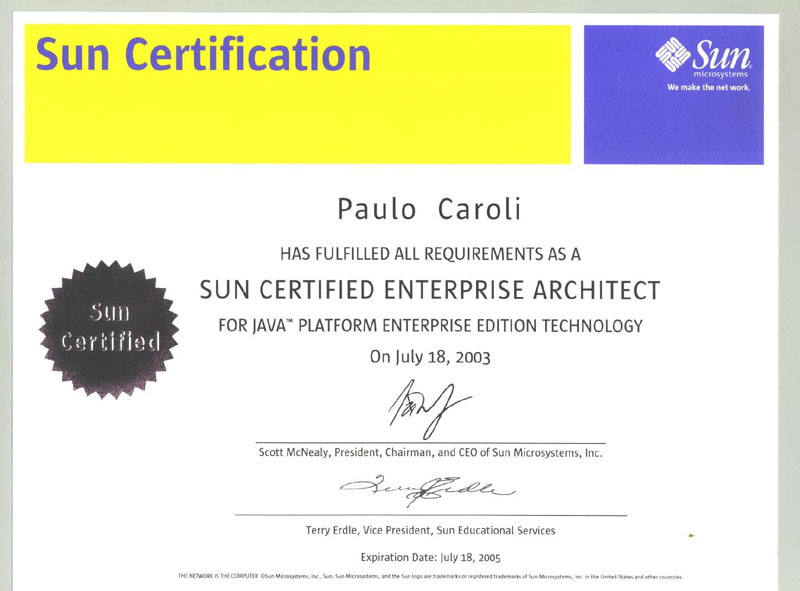 Paulo caroli master in science for Certified architect