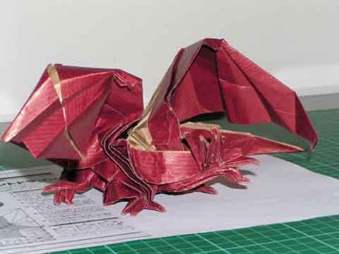 ハート 折り紙:エンシェントドラゴン 折り紙-geocities.ws