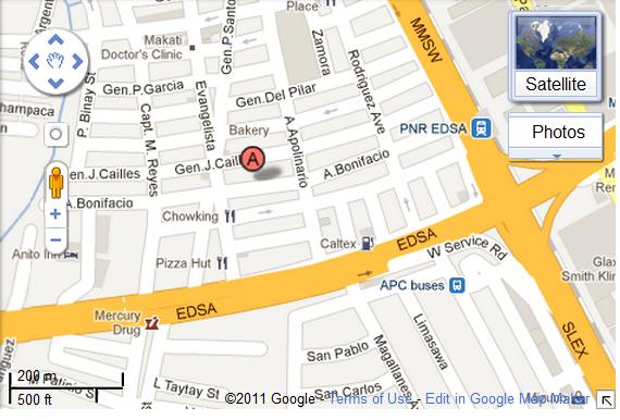 Contact Us - Legazpi city map