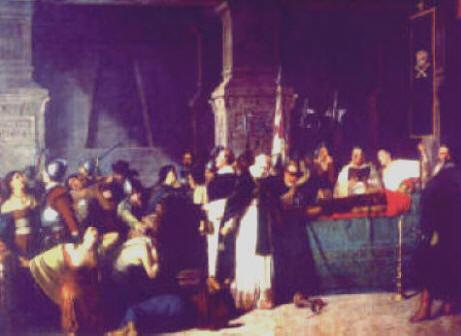 los funerales de atahualpa Los funerales de atahualpa autor: luis montero pintor nacido en per.