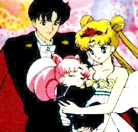 sailor moon and tuxedo mask and rini  Tuxedo Mask (minus the mask...