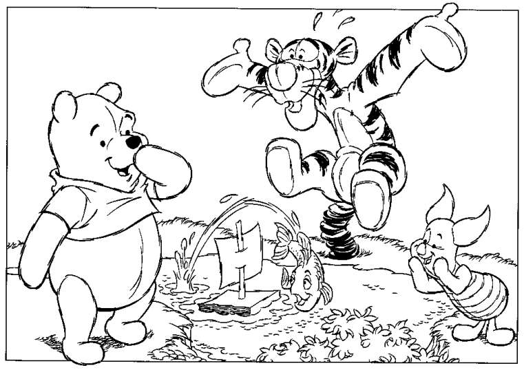 ruthys 100 acre wood coloring pages - Coloring Pages For Paint Program