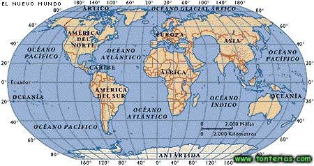 El dibujo del mapamundi - Imagui