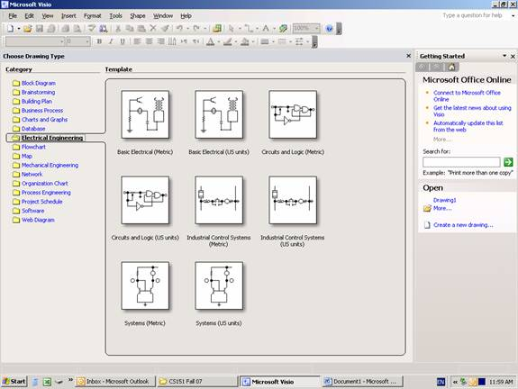 how to start ms office visio - Microsoft Visio Electrical