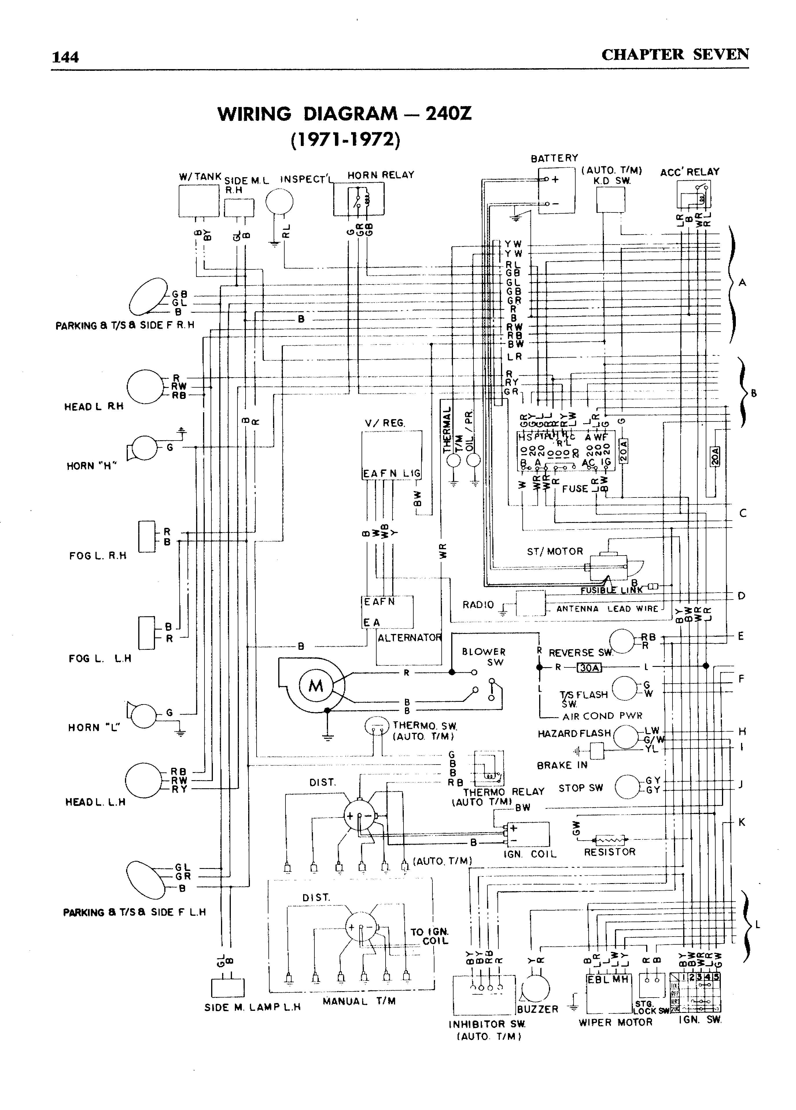 240z wiring diagram   19 wiring diagram images