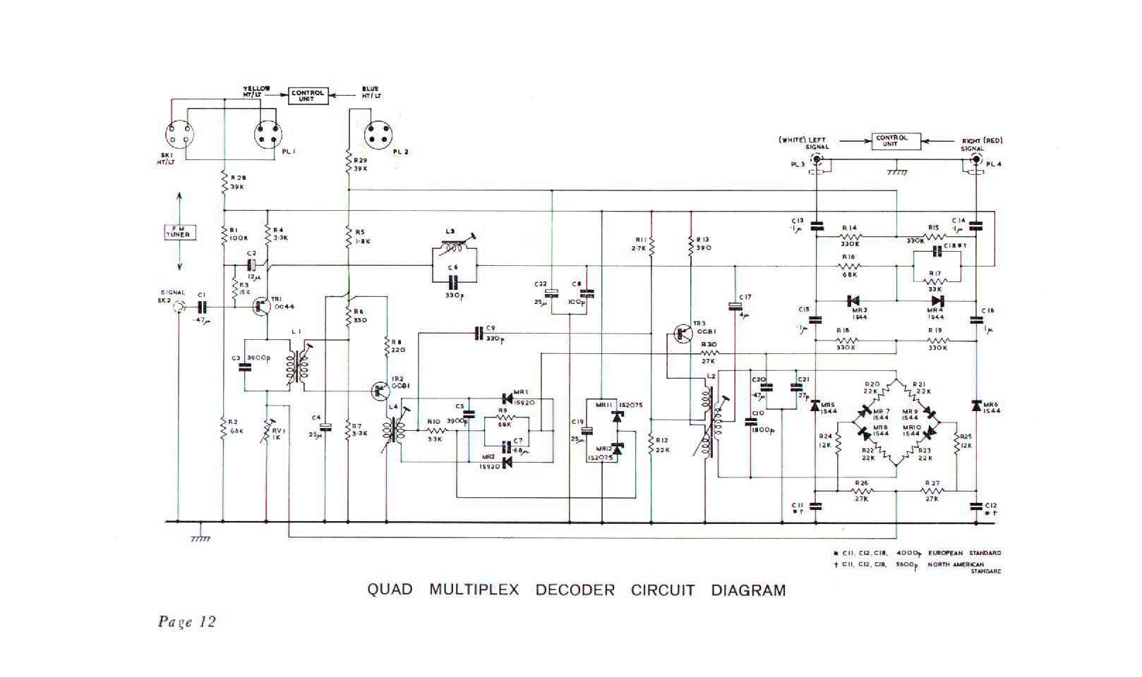 multiplex Quad Schematic on electronic circuits, metal detector, power supply circuits, block diagram, tube guitar amp, high voltage, guitar pedal,