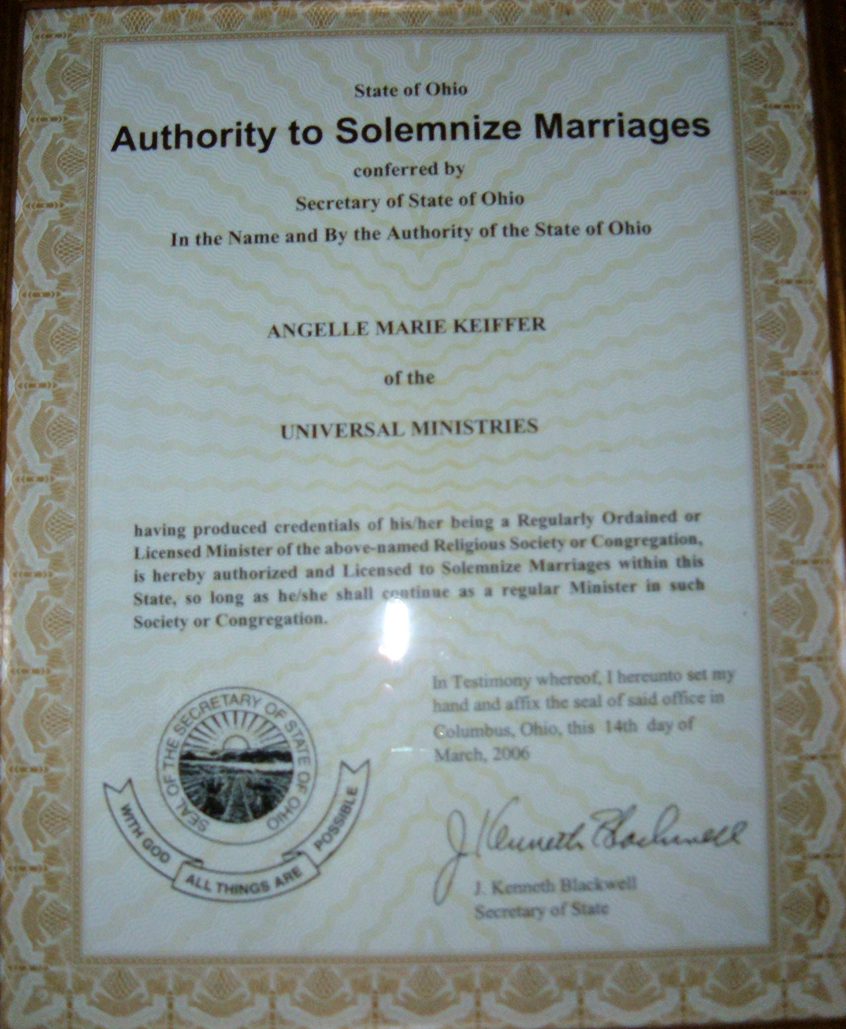 Wedding Officiant Rev Angelle