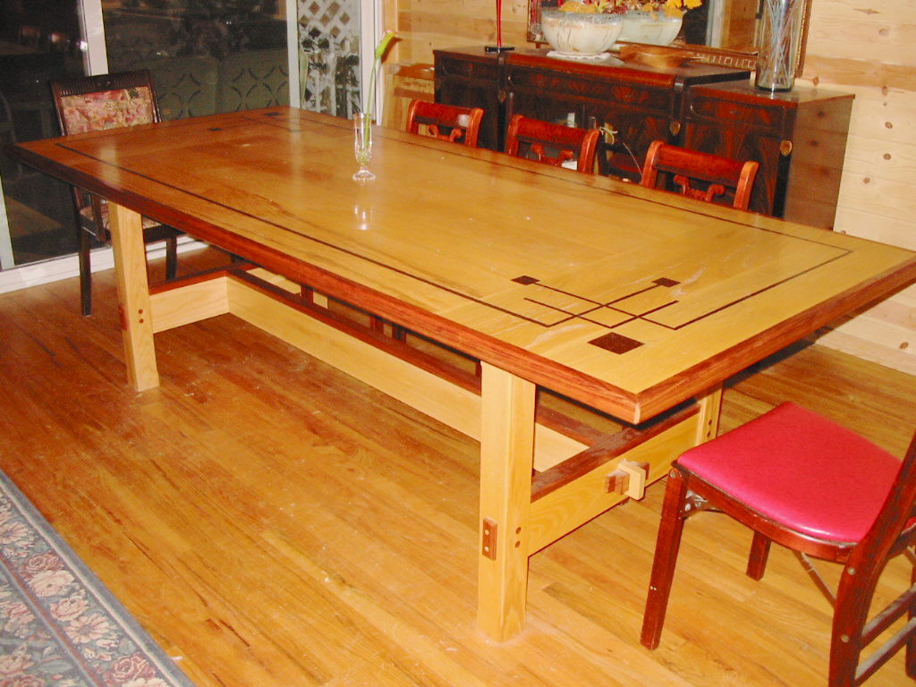 craftsman style dining table www galleryhip com the
