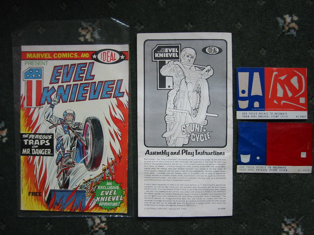 Ideal toys evel knievel stunt bikes etc for sale and more
