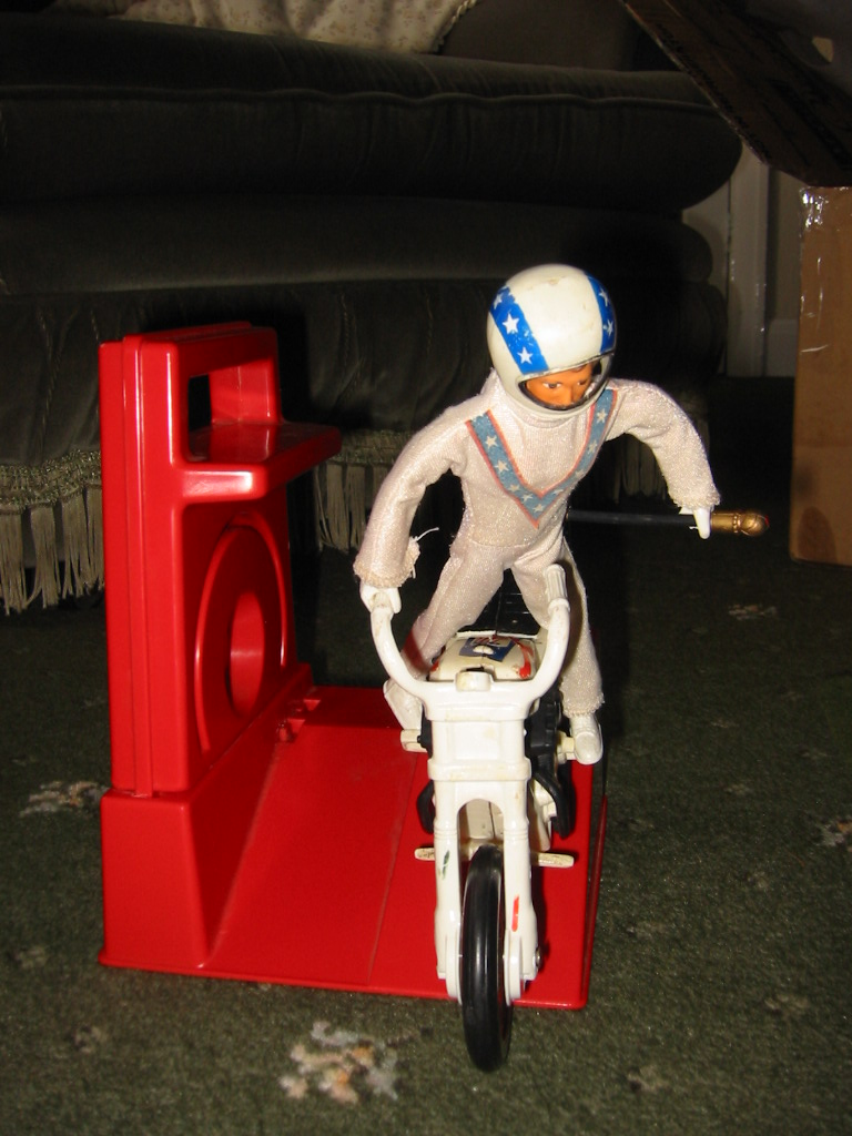 ideal toys evel knievel stunt bikes etc for sale and more. Black Bedroom Furniture Sets. Home Design Ideas
