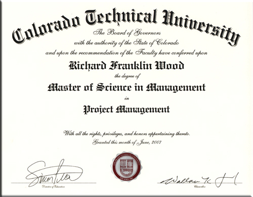 Master of Science Degree in Project Management: Colorado Technical ...