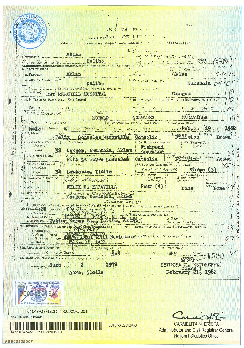 Document certificate of live birth authenticated full view yelopaper Gallery
