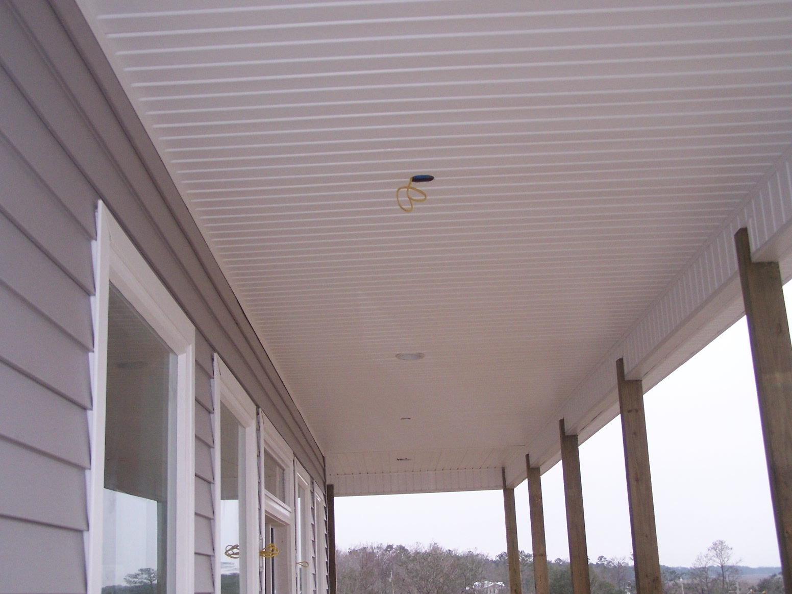 Vinyl soffit ceiling ceiling systems ask home design for Balcony ceiling