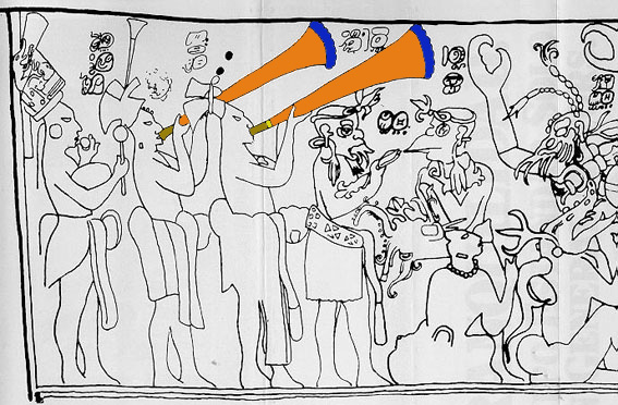 Foto del mural de pi a chan 1958 publicada por for El mural de bonampak