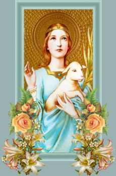 Resultado de imagen para Santa Inés, cordera de Cristo