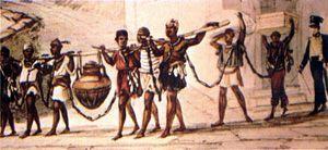 Resultado de imagem para debret oito escravos acorrentados