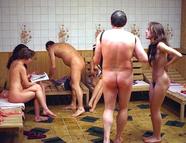 mixed sauna sex