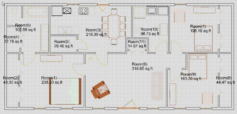 10x12 kitchen floor plans home design for Living room 10x12