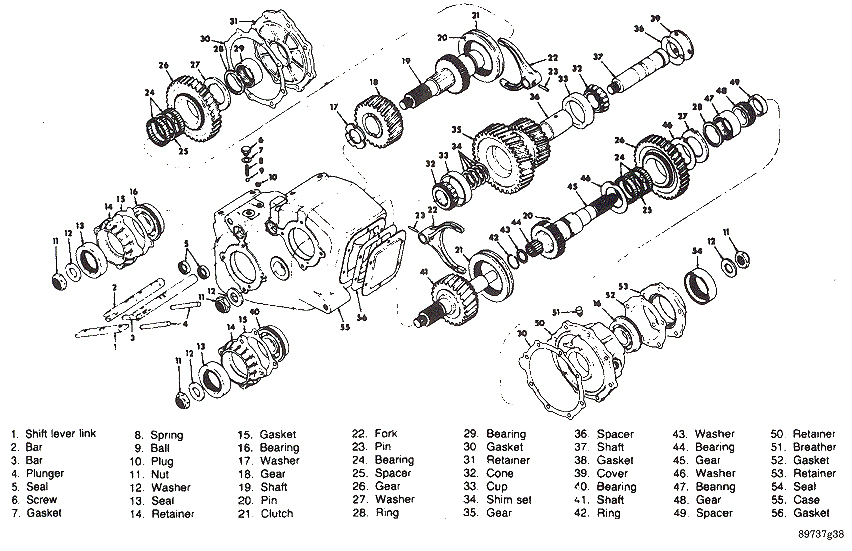 new process 241 transfer case parts