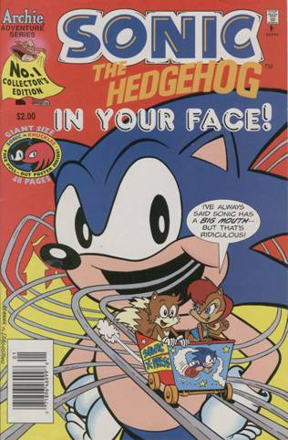 Sonic The Hedgehog In Your Face