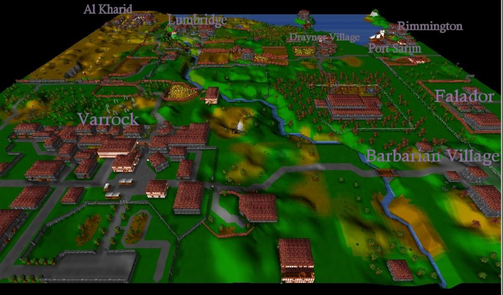 RUNESCAPE 3D MAP