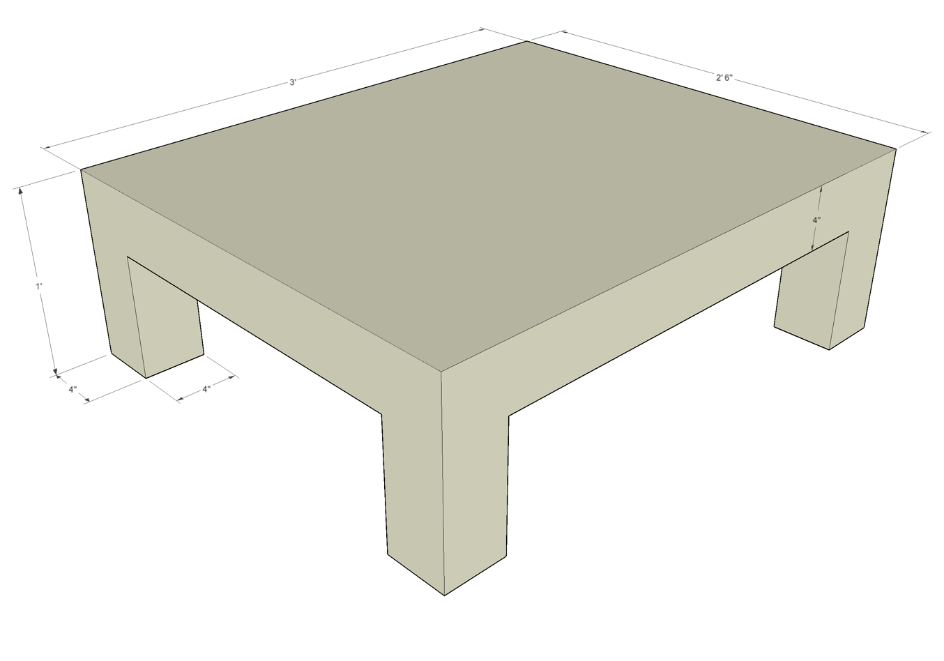 Coffee Table Dimensions Diy Woodworking Projects