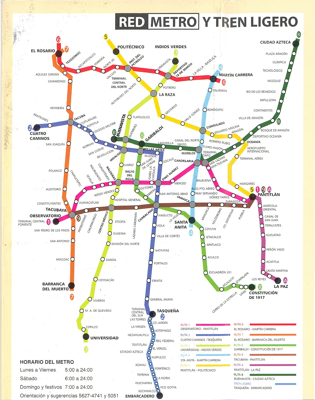 Mexico City Map Subway – Tourist Map Of Mexico City