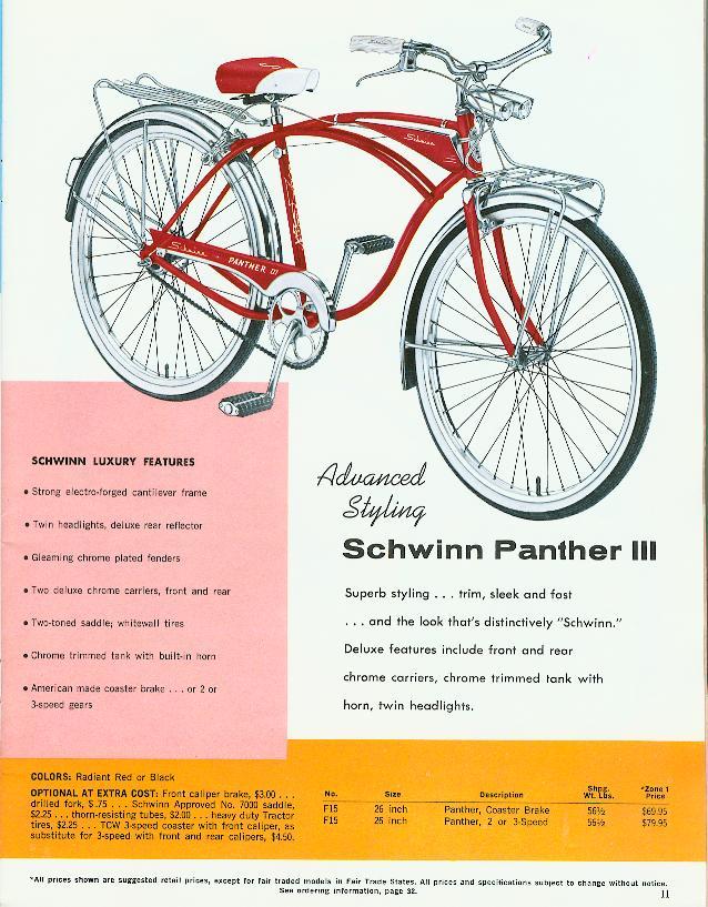 Schwinn Lightweight Data Book (1962 Dealer Catalog/Page 11)