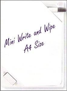 e small write and wipe