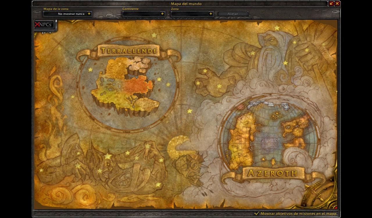 Wow Mapa
