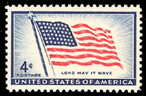 The stamps' identity -  1st Gori Press stamp - July 4, 1957 - chosen becasue it is about the time I (Art) started collecting stamps... and the 4th is my birthday ;0)