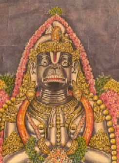 Sri Anjaneya Swami of Digambara Temple, Namakkal, Tamil Nadu