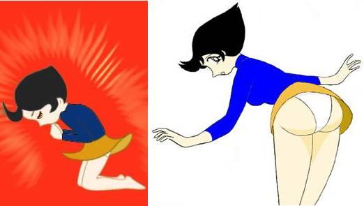 Asian girls exchanging body fluids