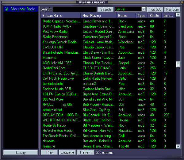 shoutcast radio winamp