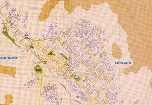 Map of Copiapó