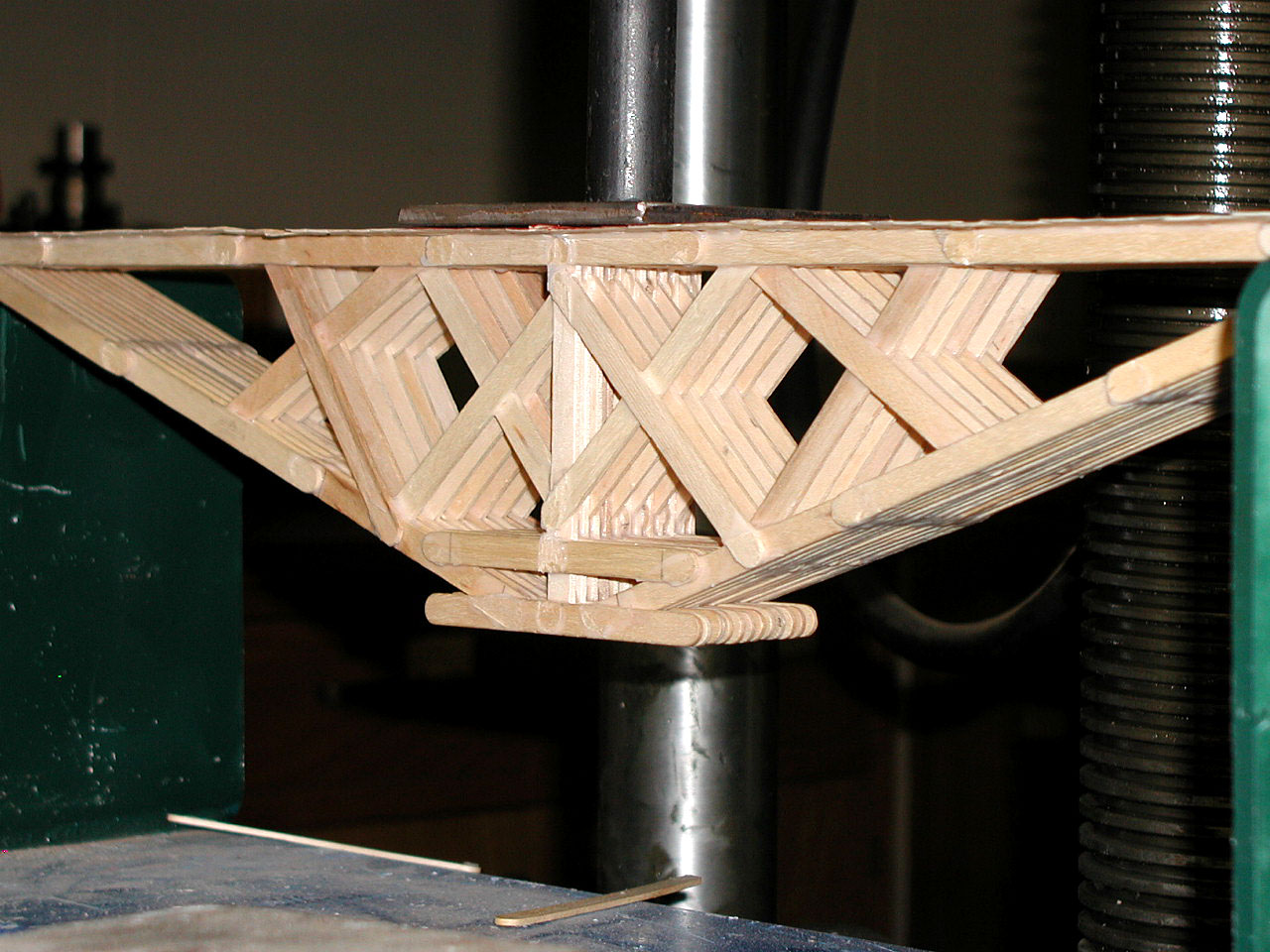 how to build a popsicle stick bridge with 200 sticks