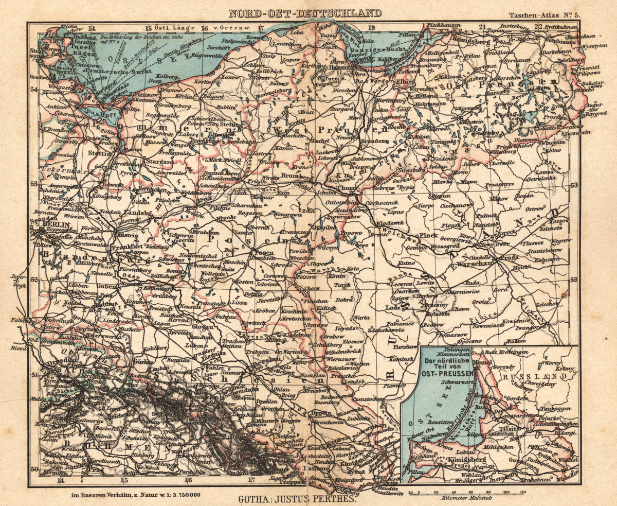 karta över norra tyskland Karta över nordöstra Tyskland. karta över norra tyskland