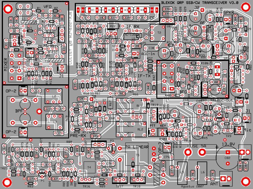Layout PCB + Komponen.