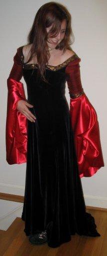 Arwen's Blood Red Gown by Annie