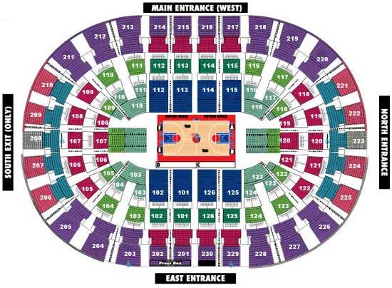 Little Caesars Arena Seating Chart Detroit Pistons Logo