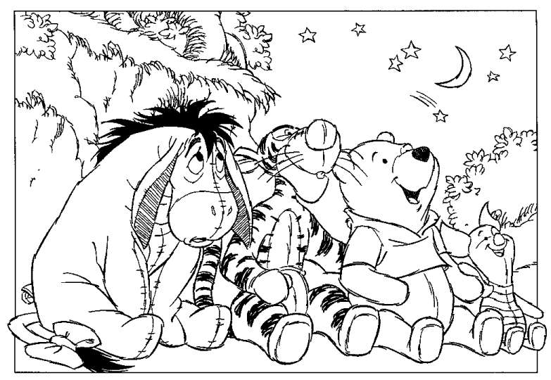 Ruthy's 100 Acre Wood - Coloring Pages
