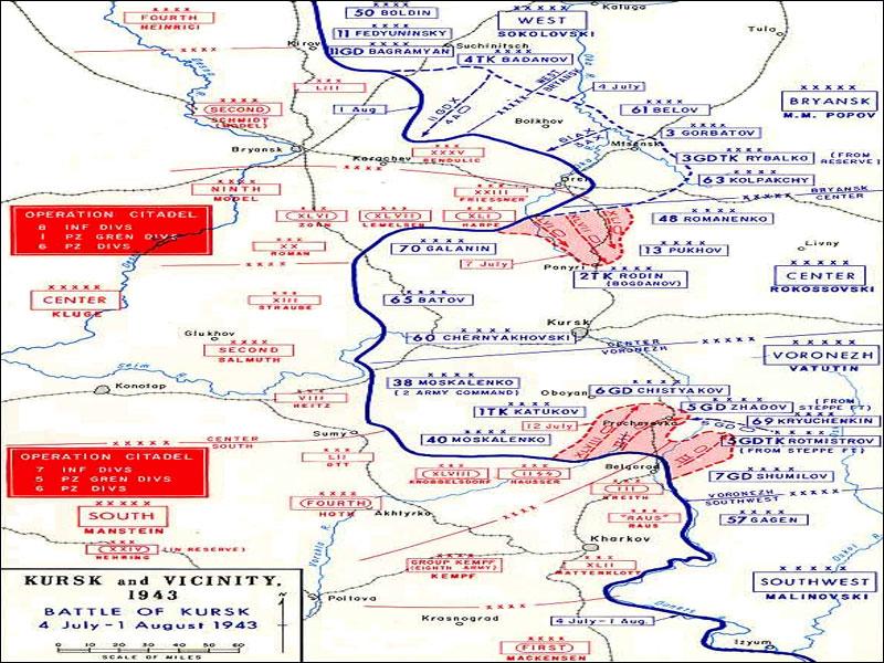 Horrific Thunder Kursk - Kursk map
